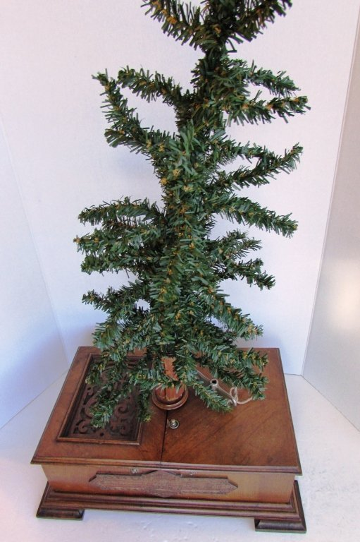 GERMAN CHRISTMAS TREE MUSIC BOX ANTIQUE CHRISTBAUM - 6