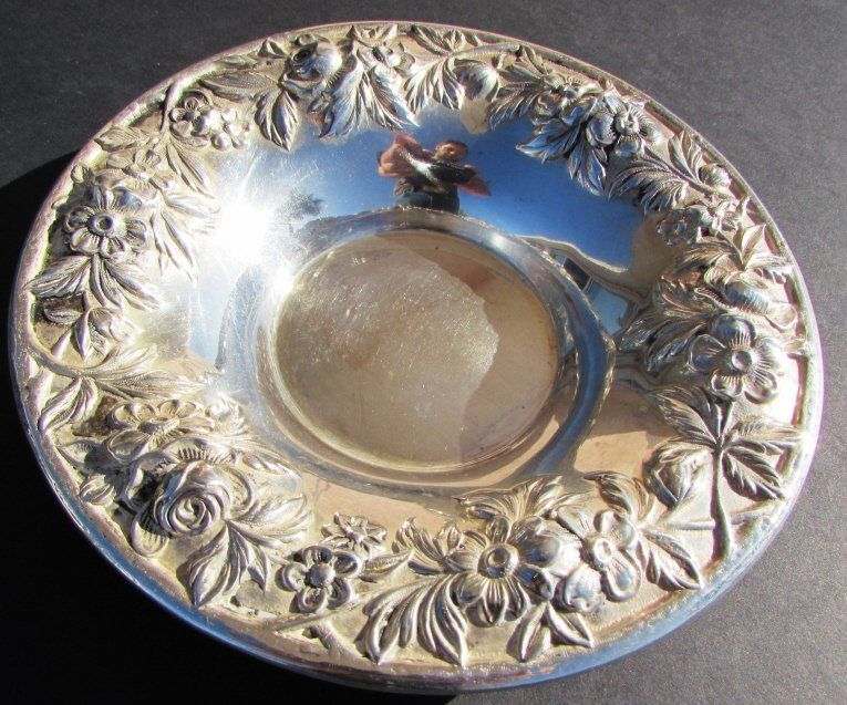 S KIRK & SON STERLING SILVER BOWL REPOUSSE DISH