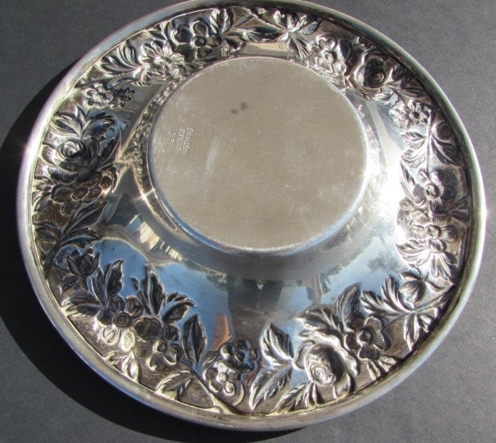S KIRK & SON STERLING SILVER BOWL REPOUSSE DISH - 2