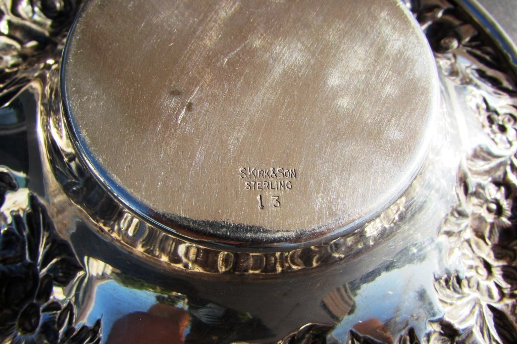 S KIRK & SON STERLING SILVER BOWL REPOUSSE DISH - 3