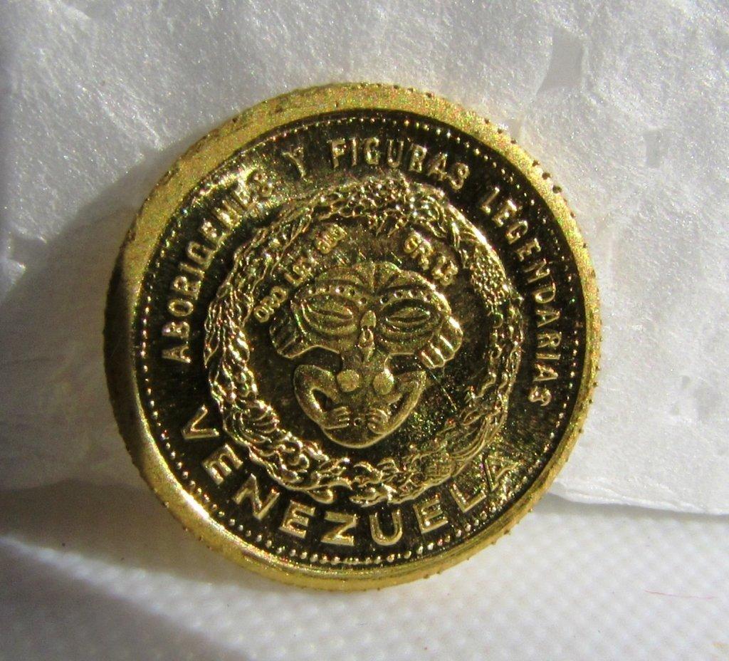 VENEZUELA INDIAN CHIEF PAISANA .900 GOLD COIN - 2
