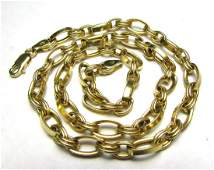 17 CHAIN LINK NECKLACE 14K GOLD