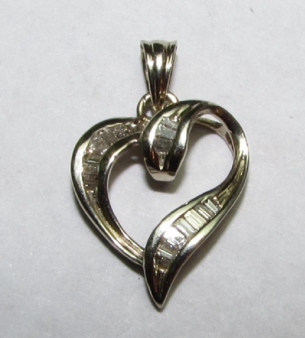 .50CT DIAMOND HEART PENDANT 14K GOLD CHARM