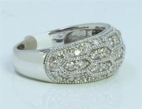 14K WHITE GOLD RING 6.75 GRAM DIAMOND 0.81CT