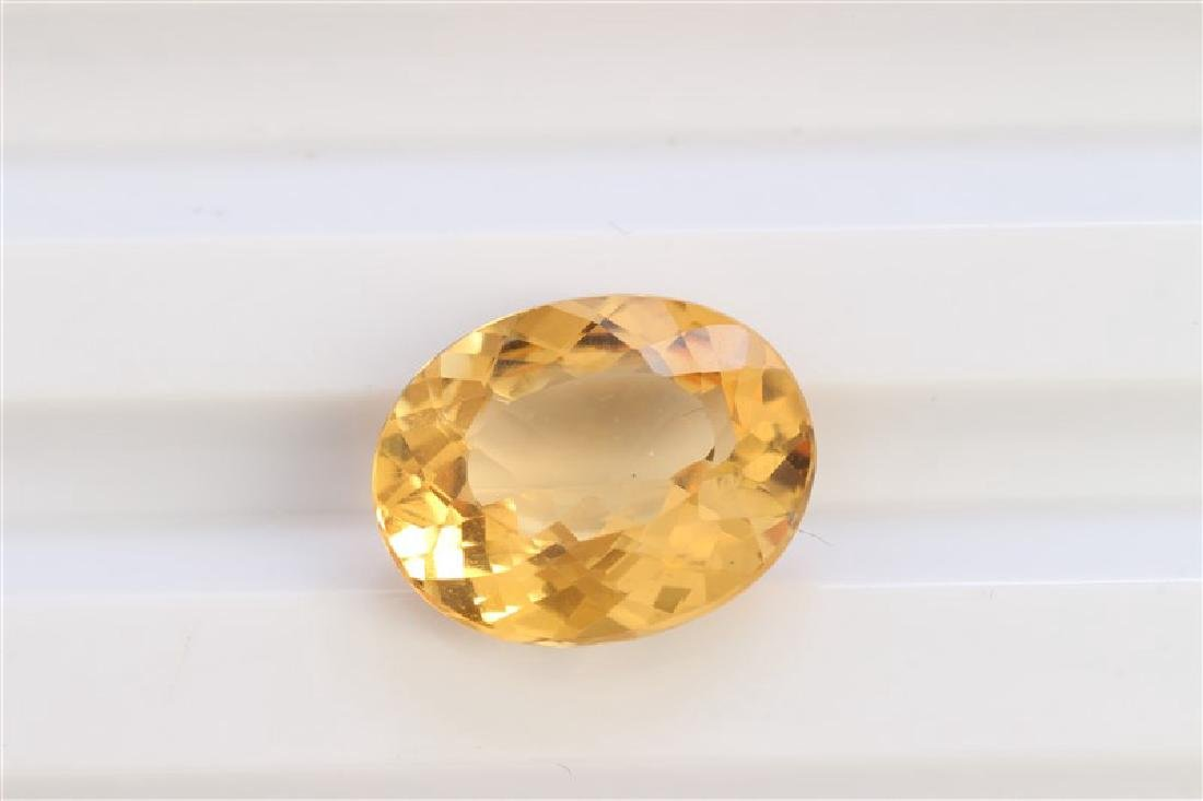 5.21ct Oval Shape Imperial Topaz Dimension-