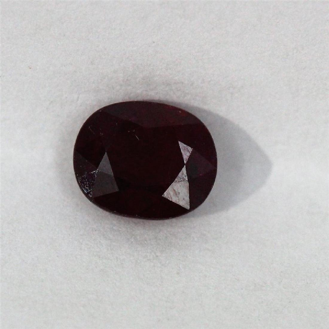 1.15ct Oval Shape Burm Ruby Dimension- 6.4x5.2x3.5