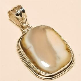 Brown Jasper Pendant Solid Sterling Silver