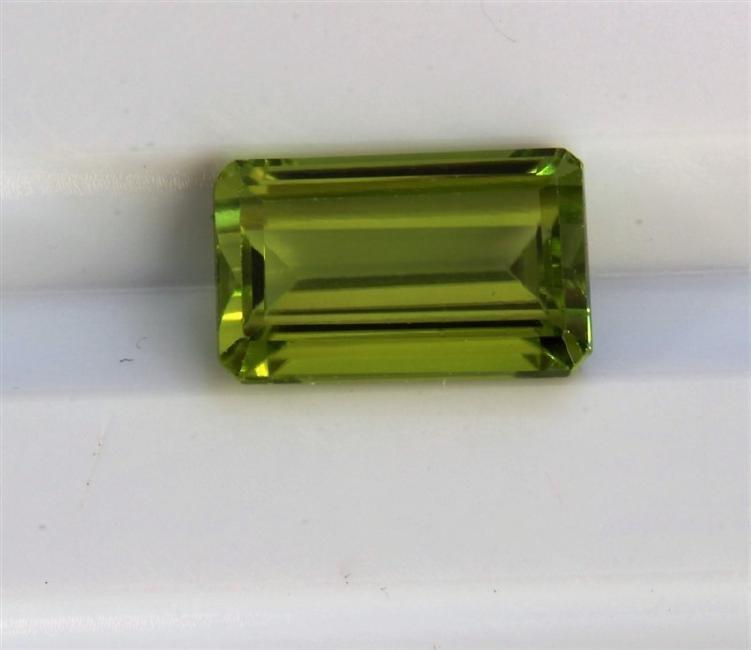 2.19ct Emerald Shape Burma Peridot  Dimensions-