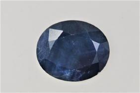 GIA 10.49ct Oval Cut Natural Ceylon Blue Sapphire