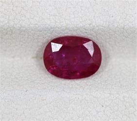 GIA Certified 1.48cts Oval Shape Ruby