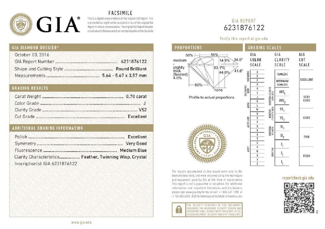 GIA/Round/J/VS2/0.7Ct