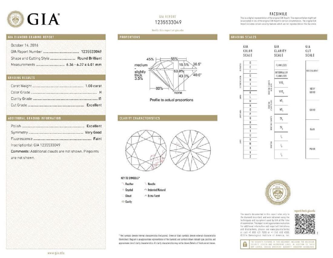 GIA/Round/H/I1/1Ct