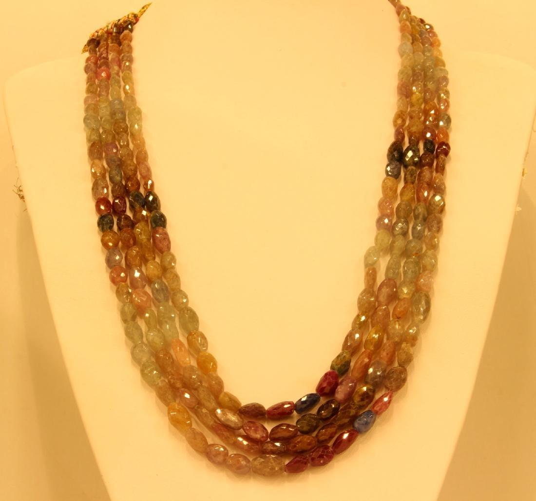 842.22ct Multi Sapphire Necklace