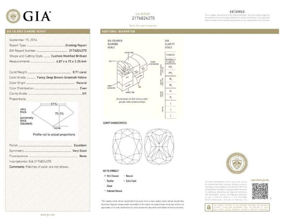GIA/Cushion/FANCY-CLR/SI1/0.71Ct