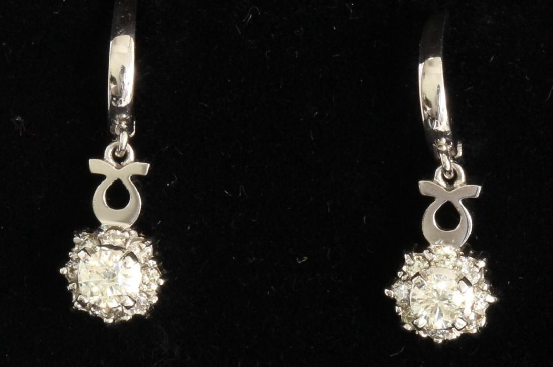 14K WHITE GOLD DIAMOND EARRING:4.50