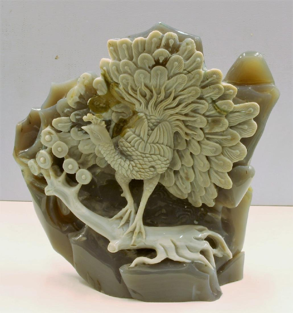 Agate Birds With Stand Craving