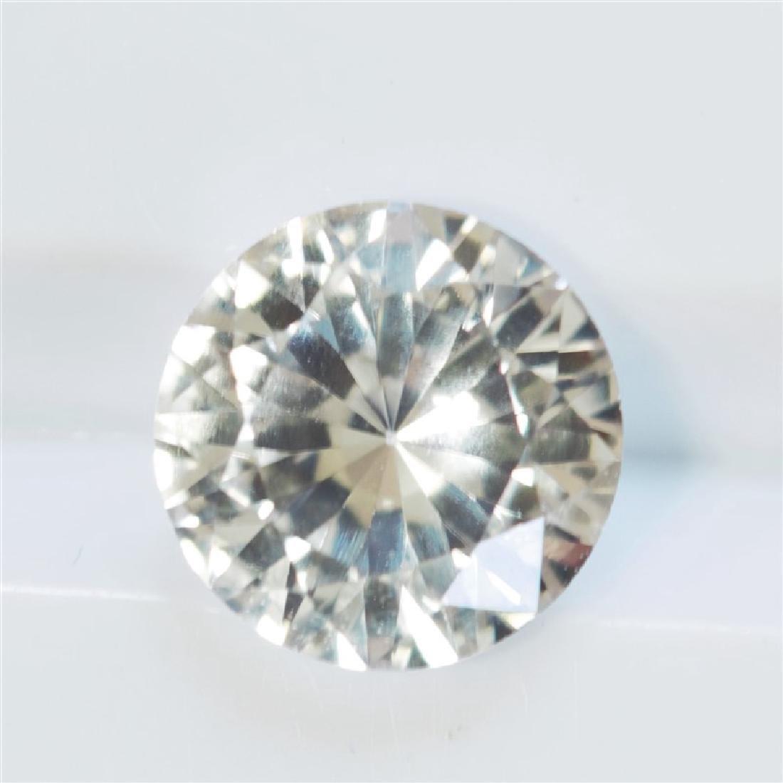 1.90ct Round Cut White Sapphire