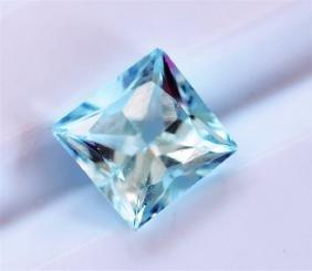 0.94ct Princess Cut Aquamarine