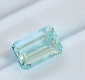 3.28ct Emerald Cut Aquamarine