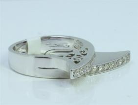 14K WHITE GOLD RING 8.26 GRAM  DIAMOND 0.63CT