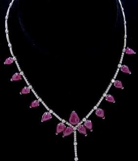 46.96ct Burma Ruby (No lead filled, not treated) 14K