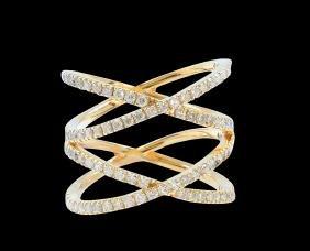 0.91CT DIAMOND 14K Y/G RING
