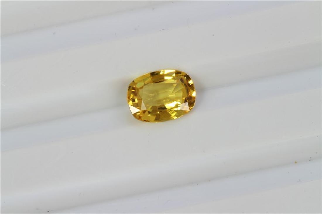 1.56ct Cushion Shape Yellow Sapphire
