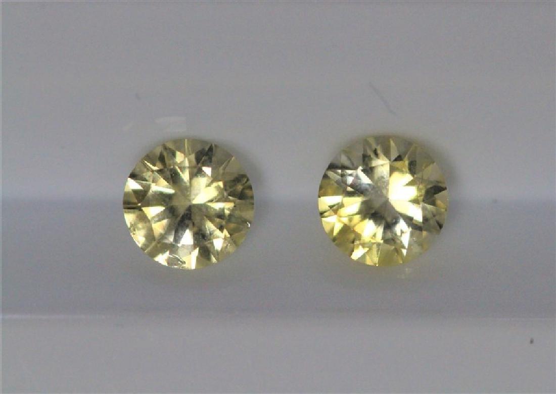 1.19ct Round Shape Match Pair Yellow Sapphire