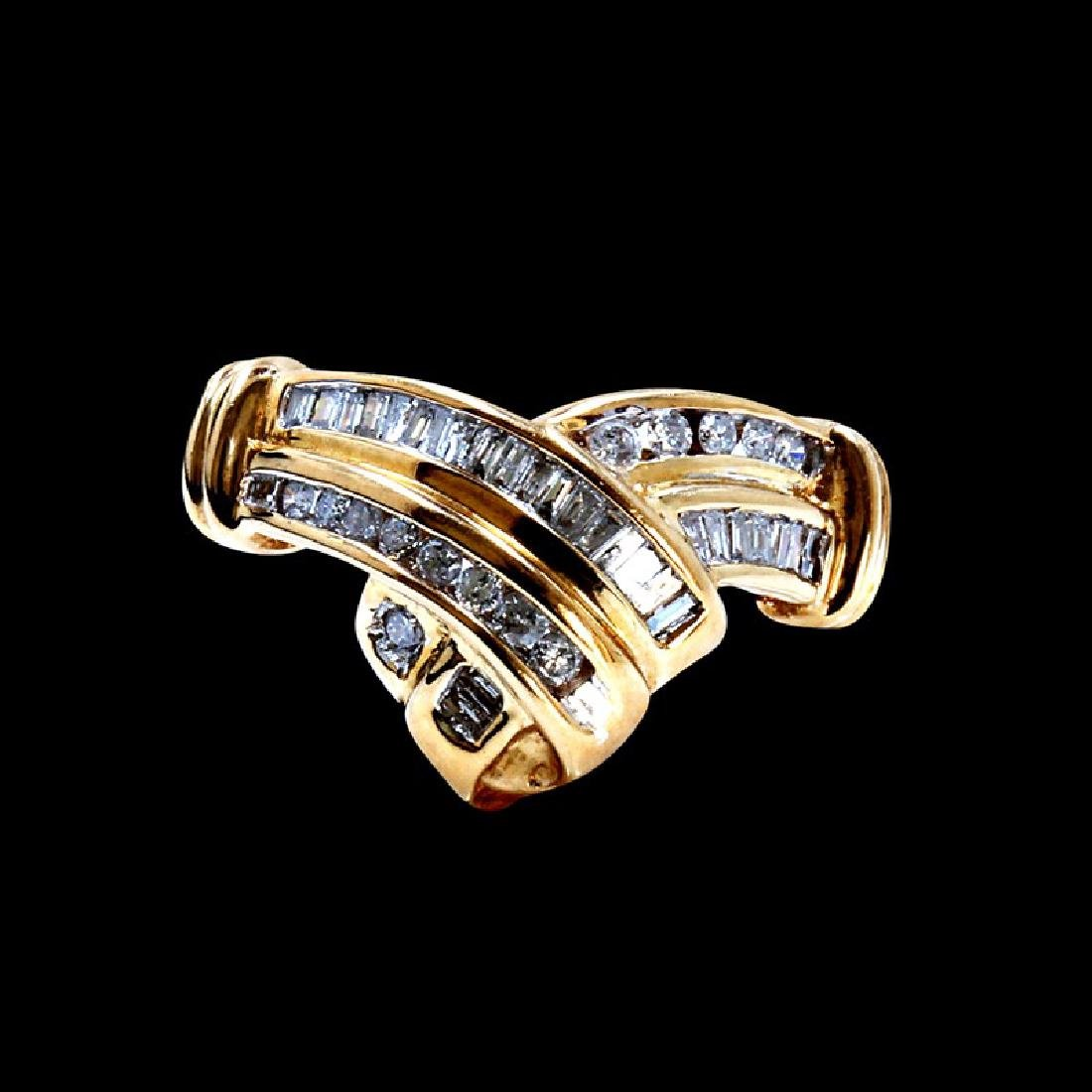 1.50ct About Diamond 14K yellow Gold Ring