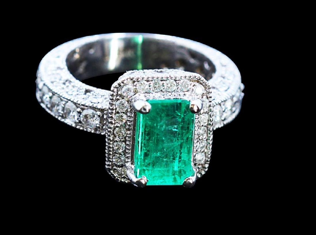 2.38ct Emerald 14K White Gold Ring