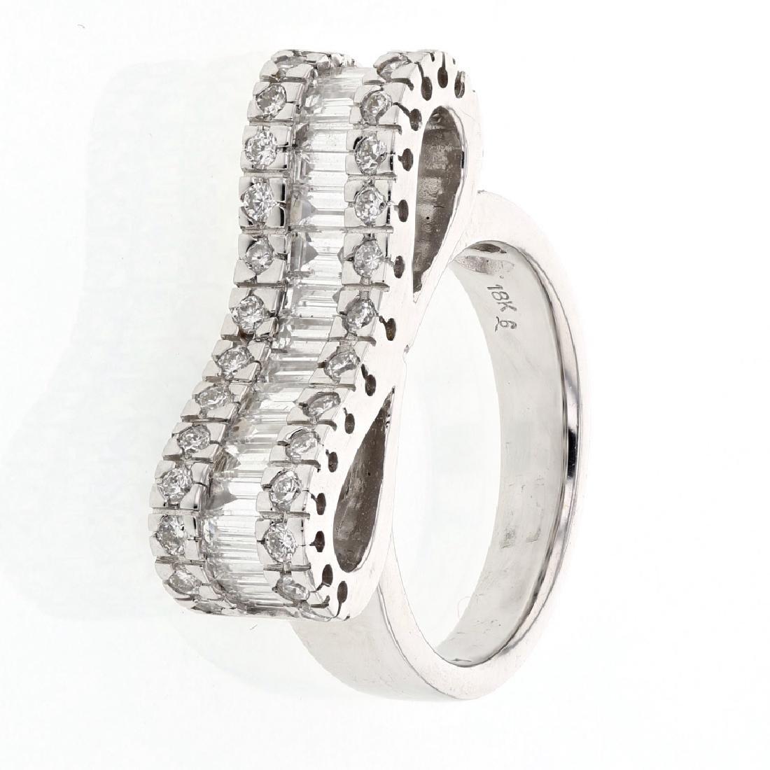 1.49ct Diamond 18K White Gold Ring