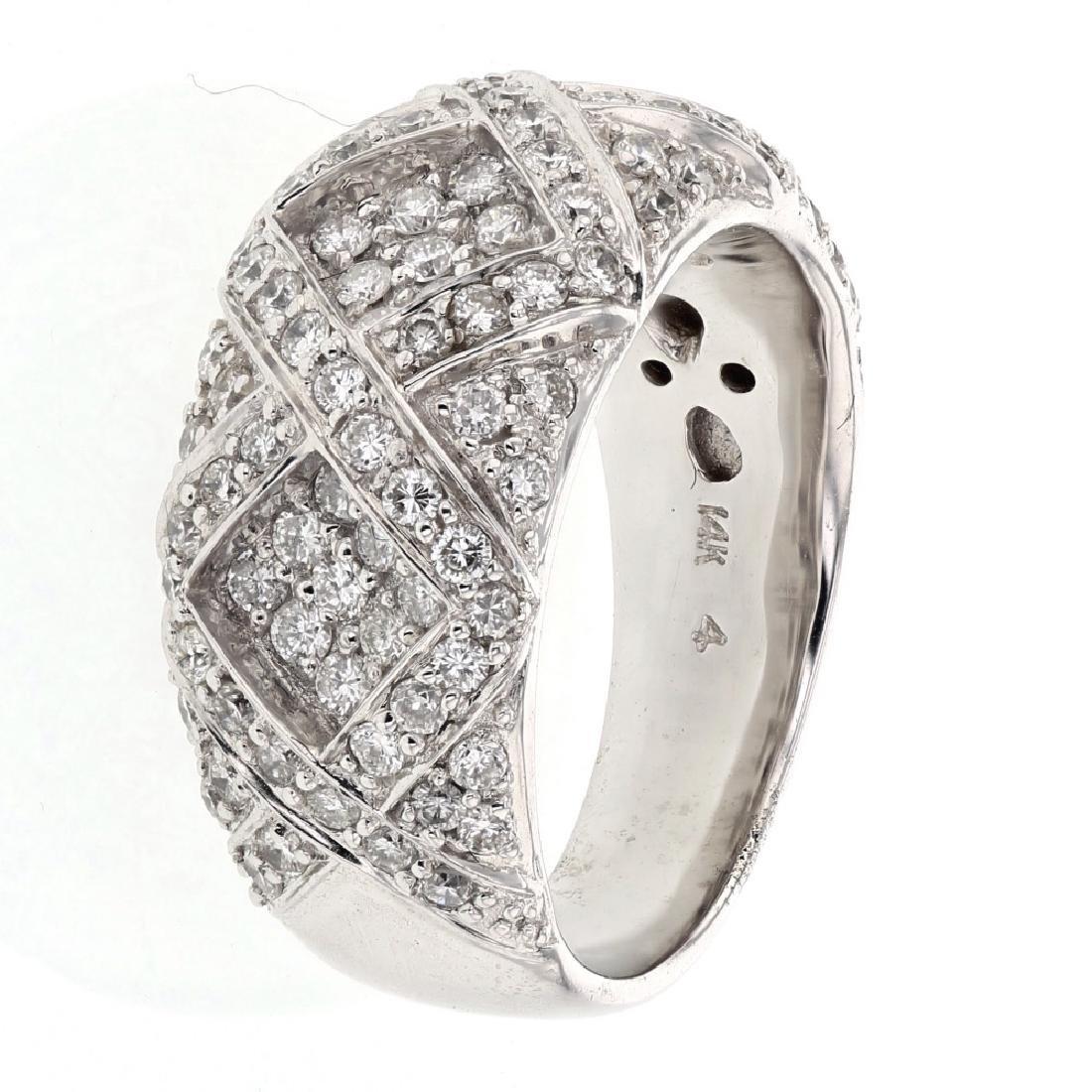 1.19ct Diamond 14K White Gold Ring