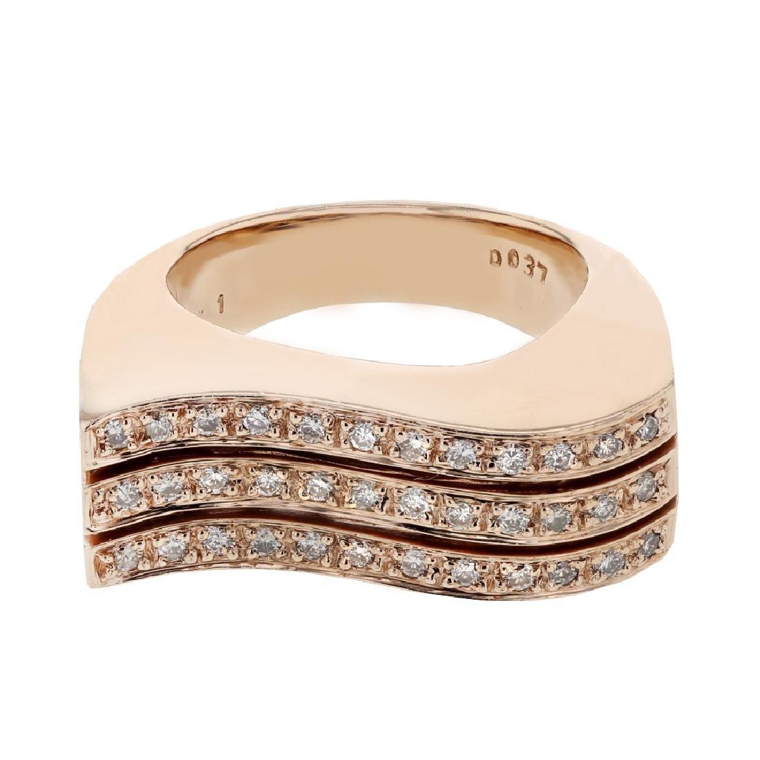0.37ct Diamond 14K Rose Gold Ring