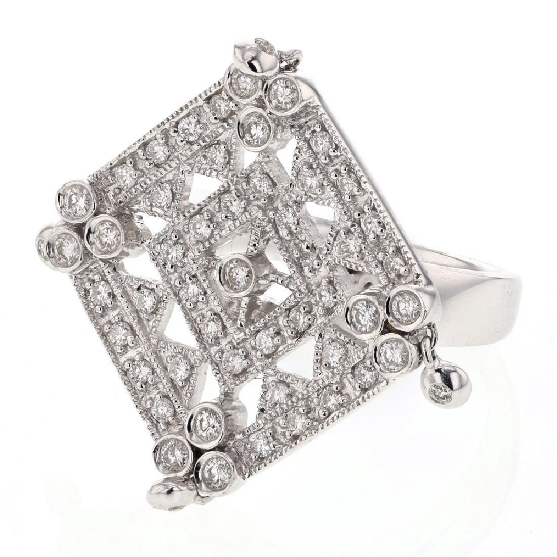 0.74ct Diamond 18K White Gold Ring