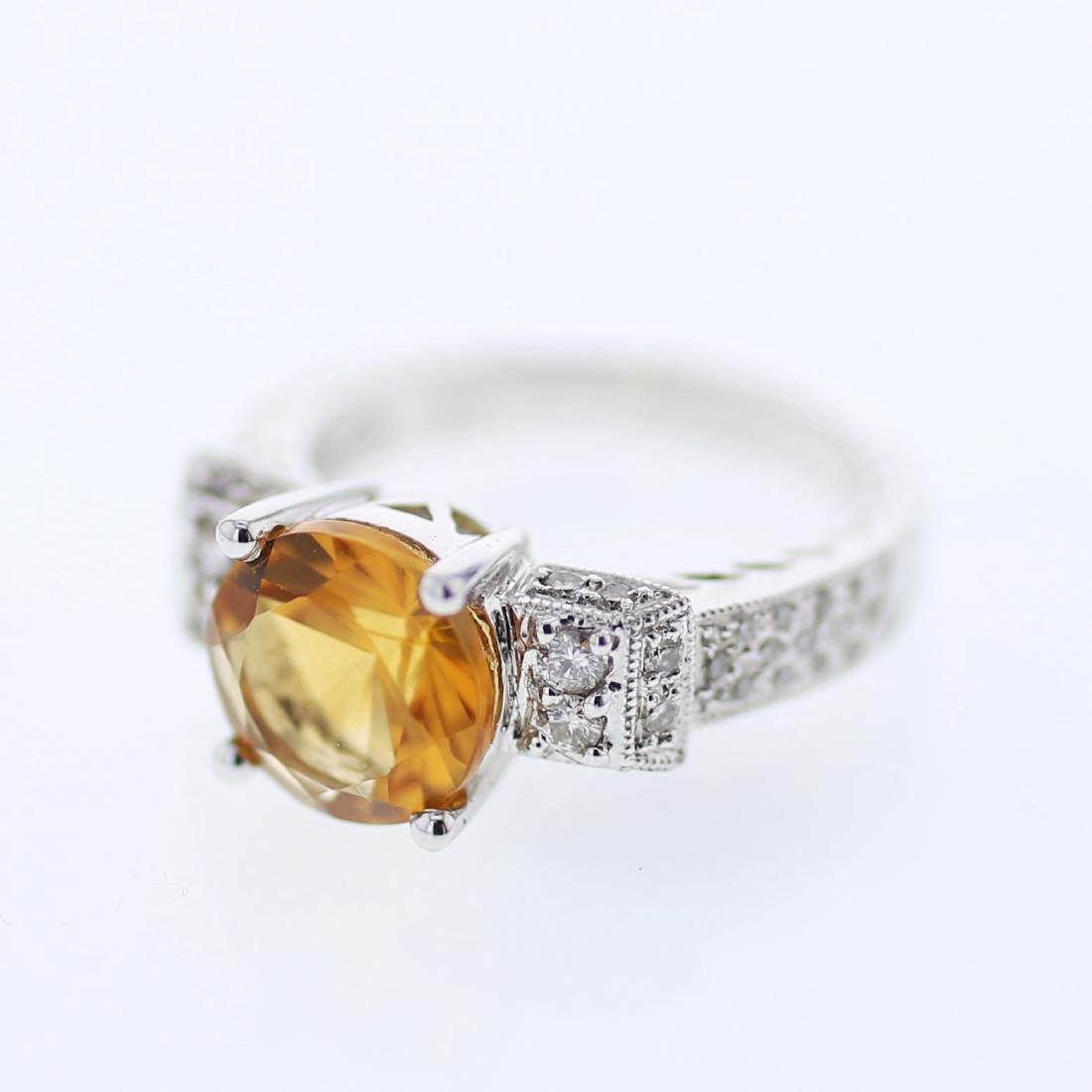 2.48ct Citrine 14K White Gold Ring