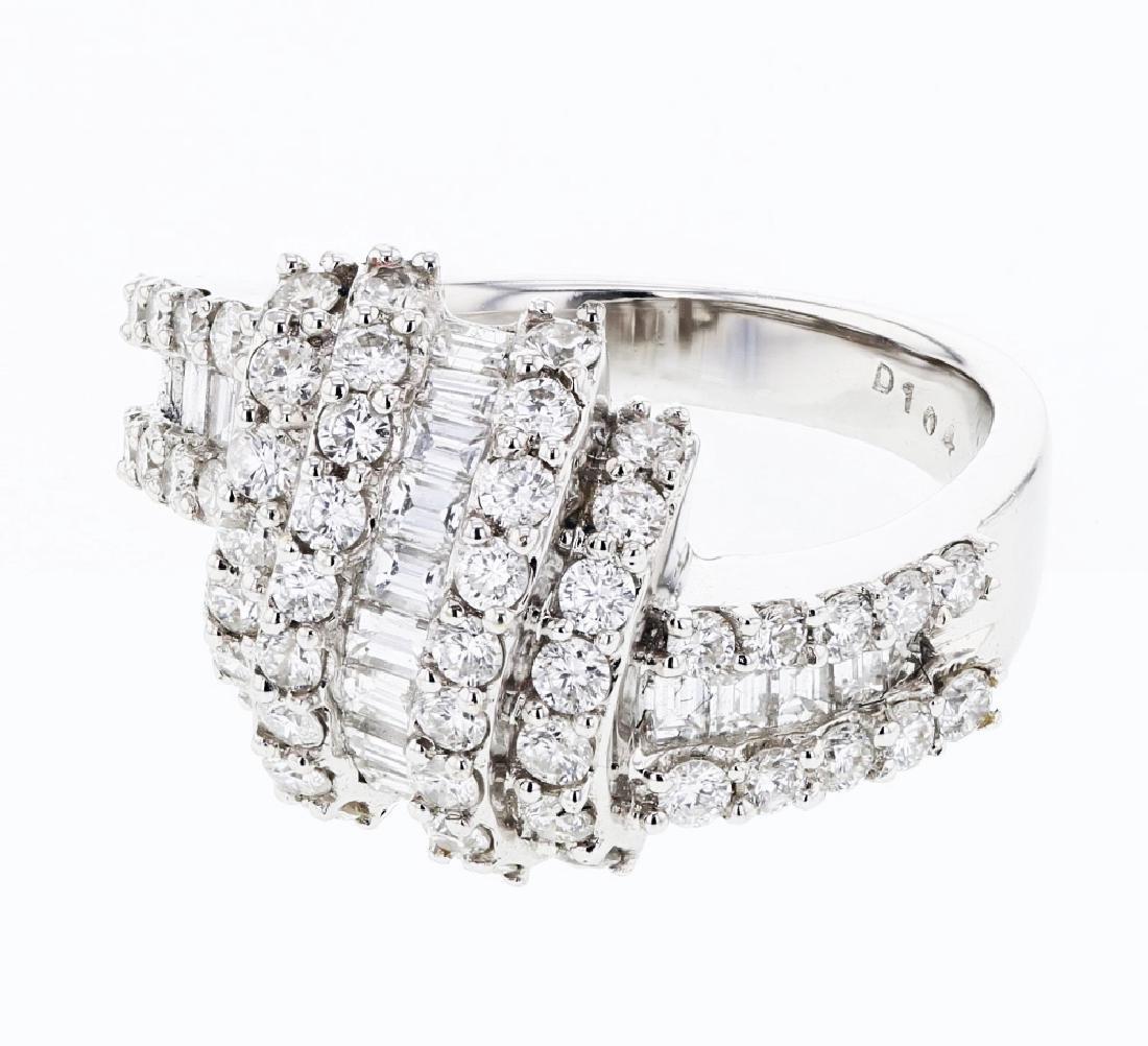 1.56ct Diamond 18K White Gold Ring