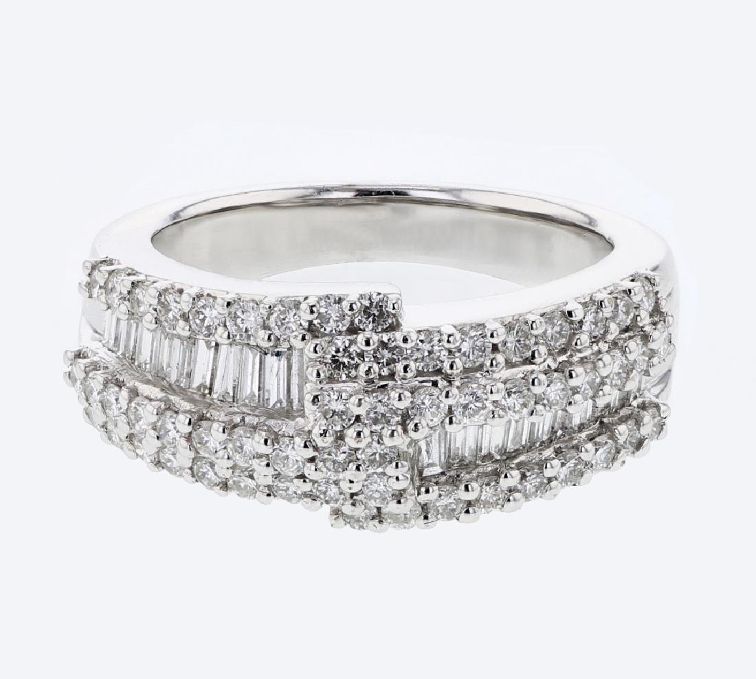 1.31ct Diamond 18K White Gold Ring