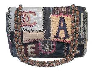 f4a90ec46df6 Chanel Patchwork Denim Tweed and Leather Jumbo Classic