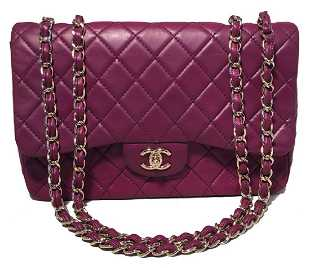 a7cabc8e1574 Chanel Purple Leather Jumbo Classic Flap Shoulder Bag