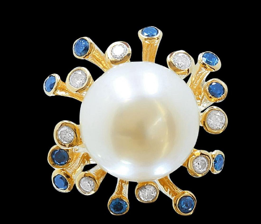 9mm Pearl 14K Yellow Gold Ring