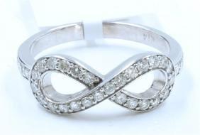 14K WHITE GOLD Diamond Ring:3.42