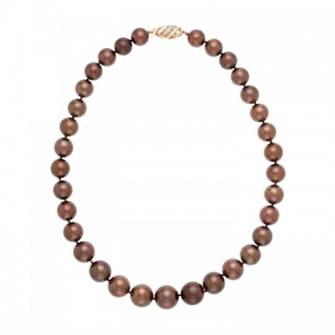 11.0-15.0mm Chocolate Tahitian Pearl Necklace