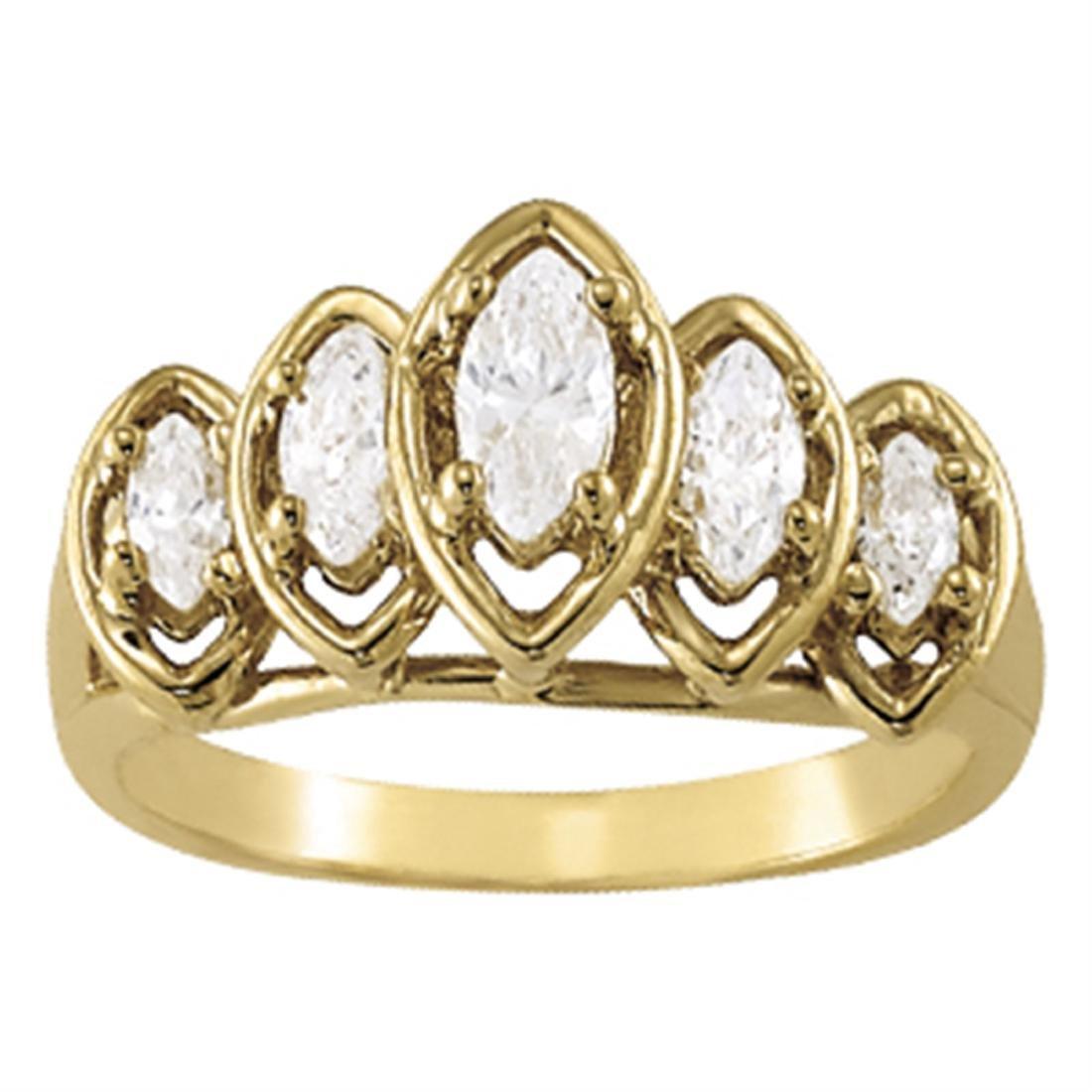 14kt gold 3.52 gram Wedding Bands/Fancy Shape/Marquise