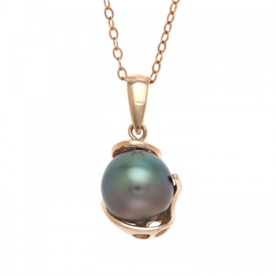 9.5-10.0mm Tahitian Black Pearl Pendant