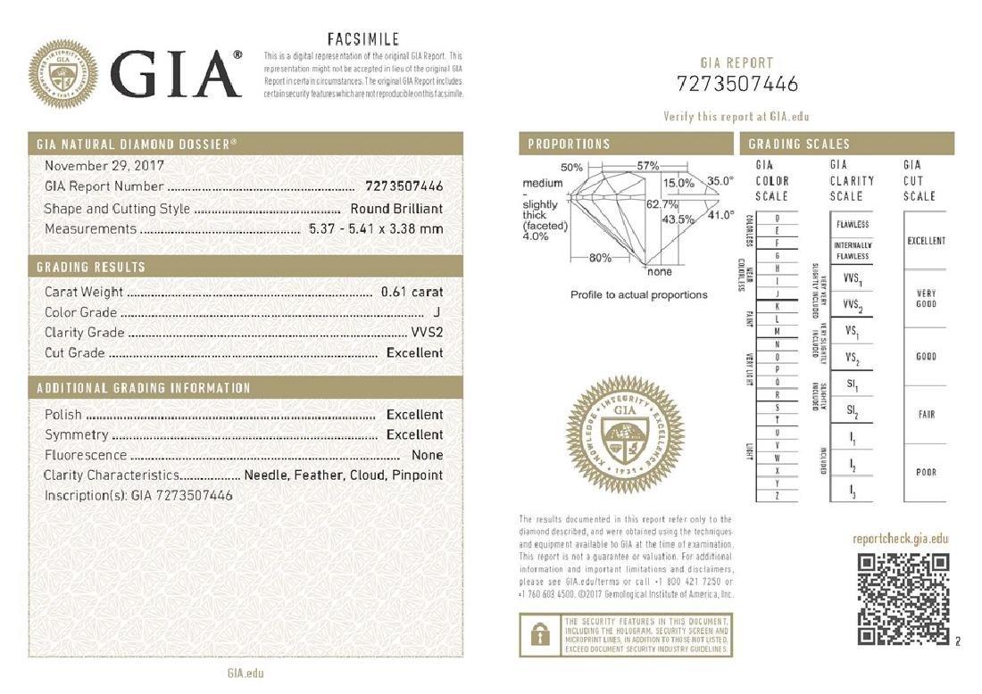 GIA/Round/J/VVS2/0.61ct