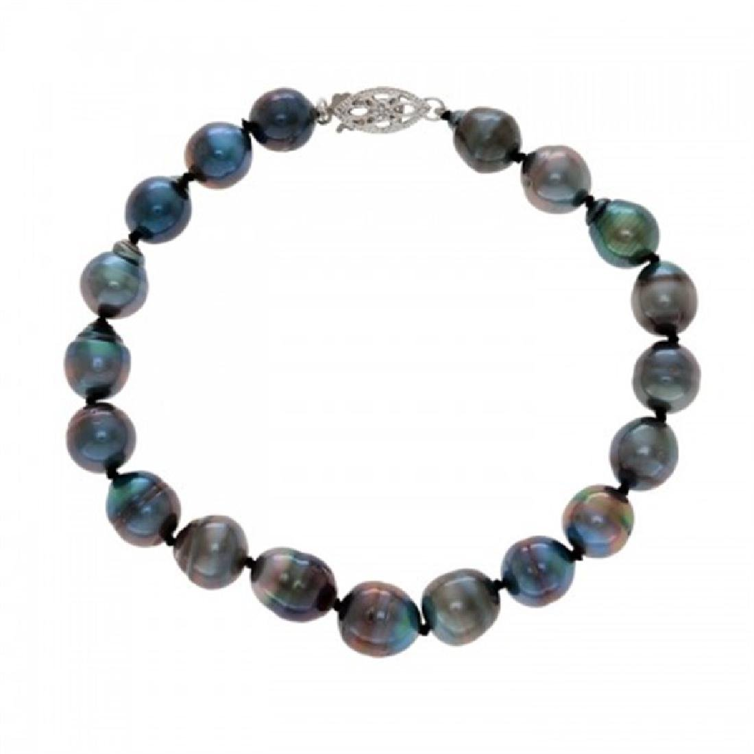 7.0-8.5mm Tahitian Black Pearl Bracelet