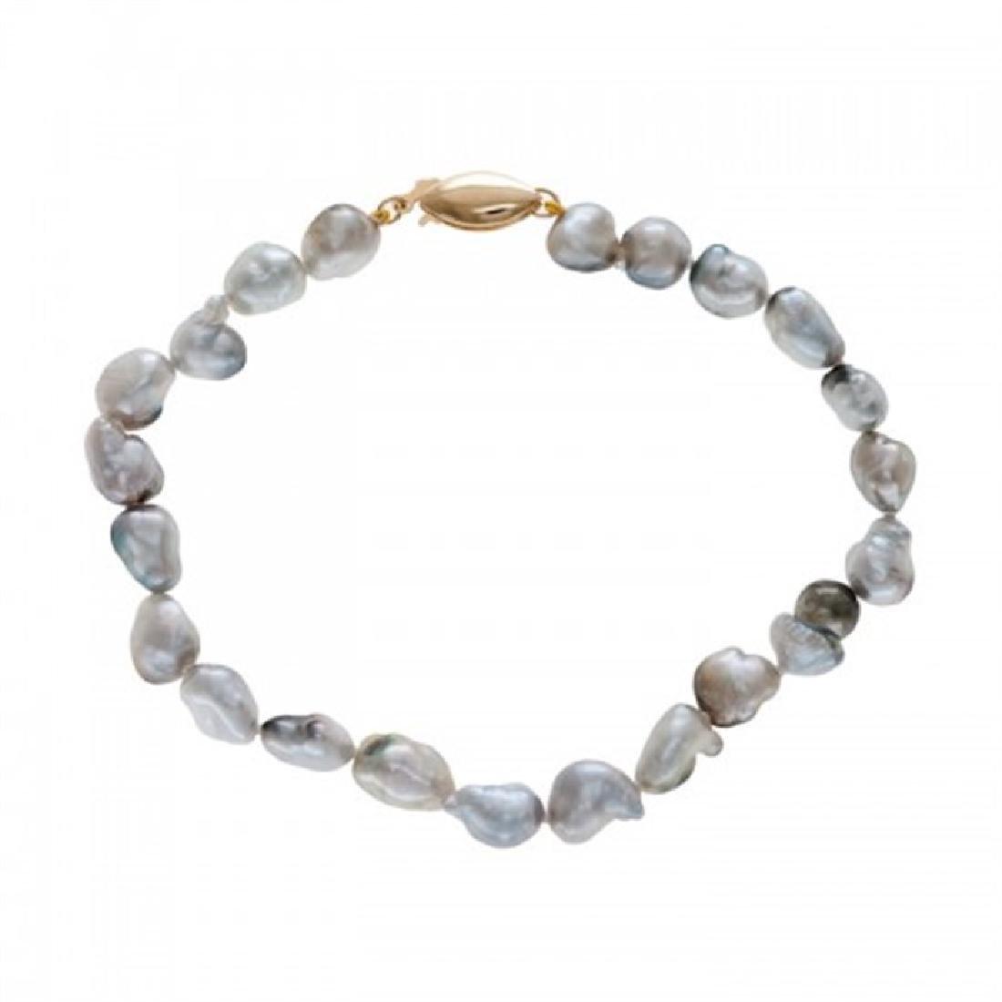 6.0-7.0mm Tahitian Keshi Pearl Bracelet