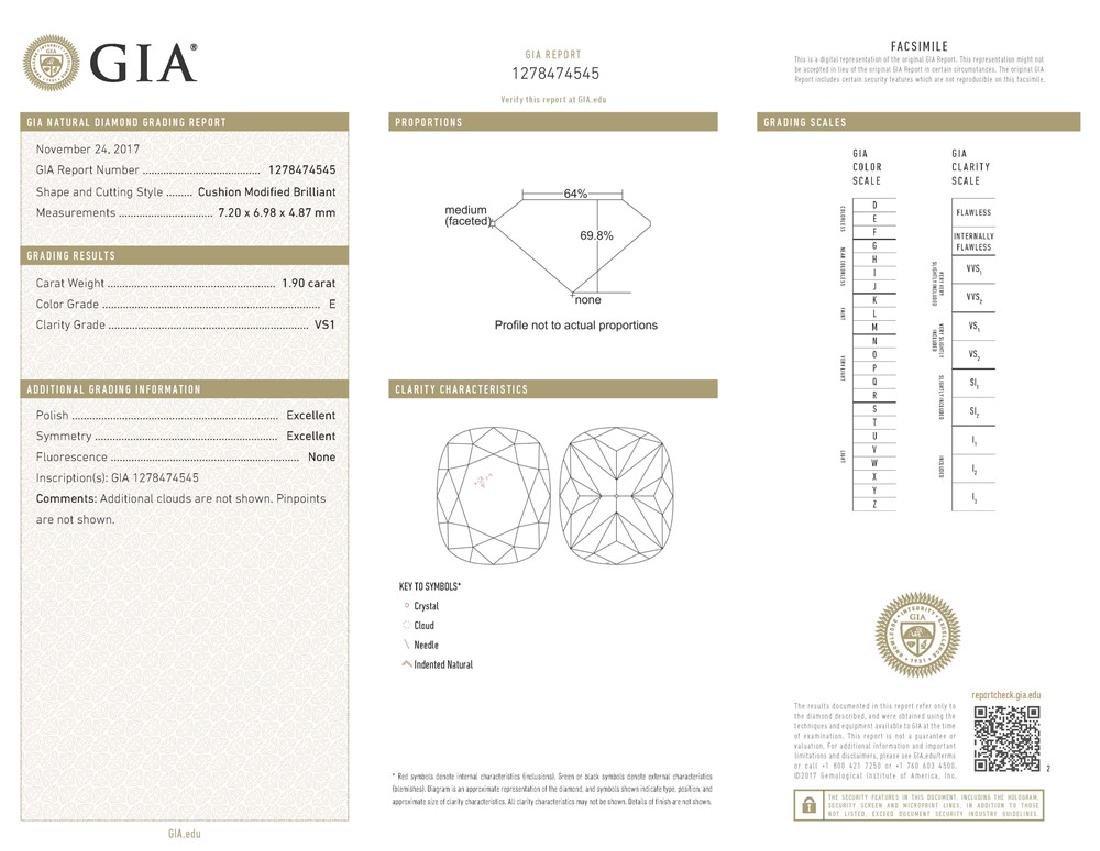 GIA/Cushion/E/VS1/1.9ct