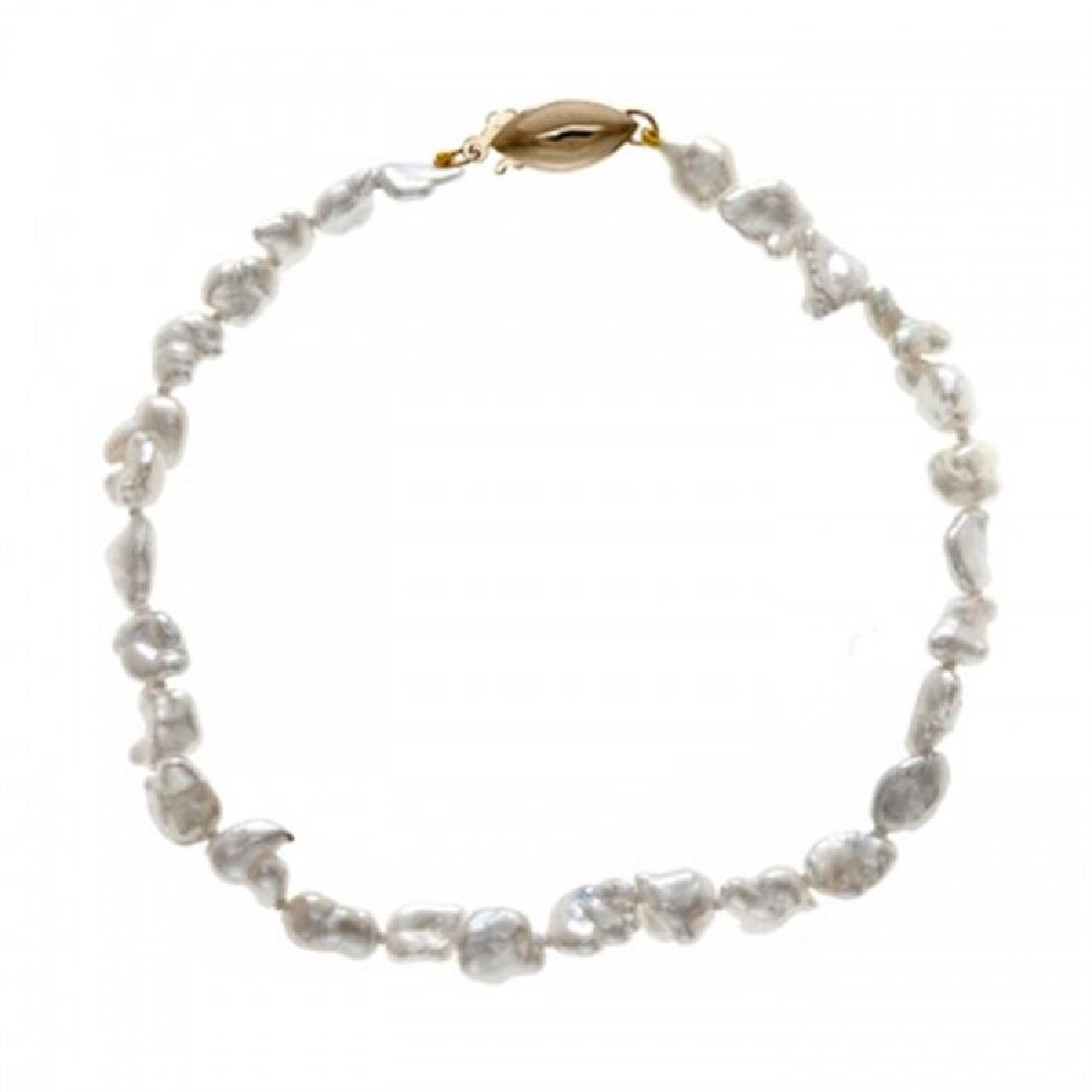 4.0-6.0mm Keshi Pearl Bracelet