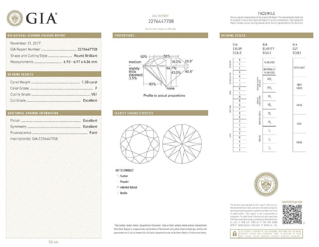GIA/Round/F/VS1/1.3ct